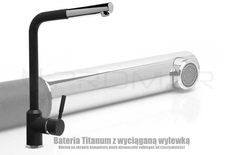 Bateria zlewozmywakowa Titanum z wyciąganą wylewką