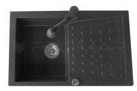 Zlewozmywak Deneb z baterią Serpens w kolorze czarnym