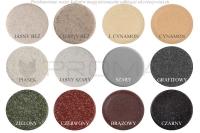 Zlewozmywak granitowy jednokomorowy ZGR-18  - kolory