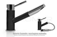 Zlewozmywak granitowy Pavo- czarna bateria kuchenne Expanda