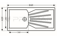 Zlewozmywak granitowy ZGR-12, wymiary