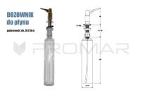 Zlewozmywak jednokomorowy naszafkowy ZGR-02A dozownik do płynu