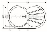 Zlewozmywak kwarcowy jednokomrowy ZKW-08 - rysunek