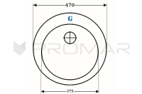 zlewozmywak kwarcowy ZKW-06A rysunek