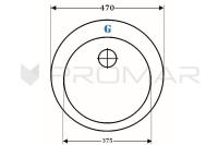 Zlewozmywak ZGR-06A rysunek techniczny